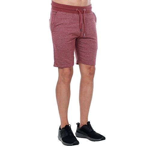 JACK & JONES VINTAGE Herren Jjvrecycle Basic Sweat Shorts Noos Rot (Syrah Detail:MELANGE - COMFORT FIT)