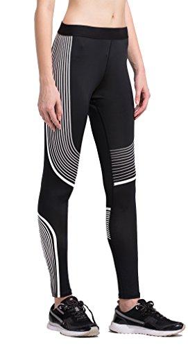 Fringoo - Leggings sportivi -  donna Stripes White