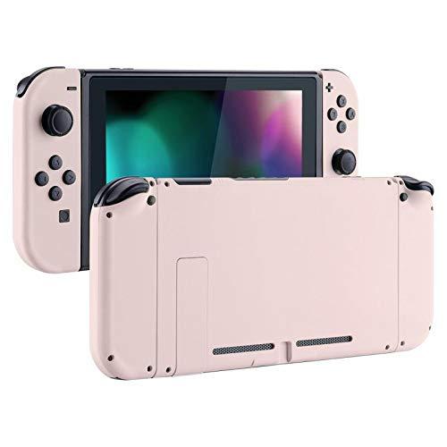 eXtremeRate Case Hülle Gehäuse Schutzhülle Cover Schale Tasche Shell Kit für Nintendo Switch Console, NS Joycon Controller mit Buttons, DIY-Ersatzschale für Nintendo Switch(Sakura-Rosa)