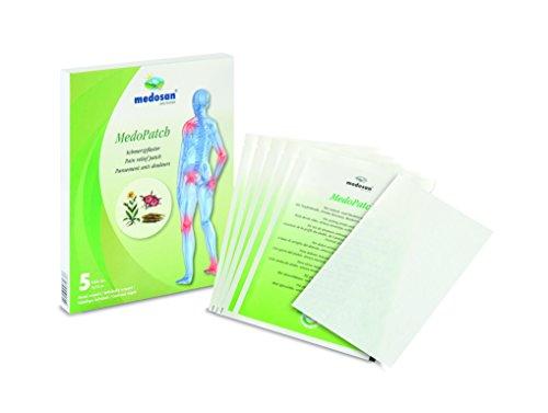 MEDOSAN Schmerzpflaster 5 Stück, Pflaster gegen Schmerzen Verspannungen & rheumatische Beschwerden, 24h Wirkung, zuschneidbar, 9 x 14 cm