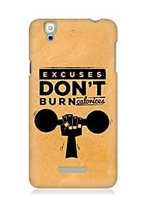 Amez Excuses don't burn Calories Back Cover For YU Yureka