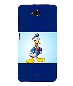 printtech Funny Designer Duck Back Case Cover for MicromaxBolt Q335
