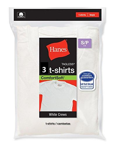 Hanes Jungen T-Shirt Gr. Small, weiß - Hanes Kinder T-shirt