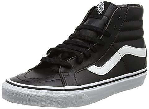 Vans Unisex-Erwachsene Sk8-Hi Reissue Leather Sneaker, Schwarz (Classic Tumble/ Black/True White), 42 EU