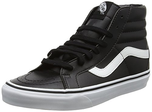 Vans Sk8-hi Reissue Leather, Zapatillas Unisex Adulto, Negro (Classic Tumble/Black/True White), 41 EU