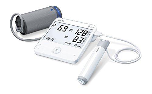 Beurer BM-95 - Tensiómetro de brazo con función ECG, memoria 2 x 60 mediciones, compatible con App 'Health Manager'
