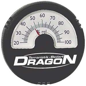 Dragon - Hygrometer analog schwarz, rund Ø5,5cm
