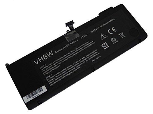 vhbw Li-Polymer Batterie 4400mAh (10.95V) pour Ordinateur Portable Laptop Notebook Apple Macbook Pro 15\