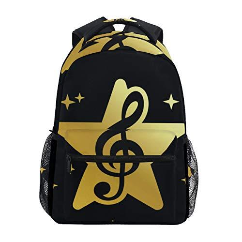 SIONOLY Rucksack,Goldener Stern Musik Wettbewerb Logo Design,Neu Lässige Daypack School Bookbag Verstellbare Umhängetaschen Reiserucksack -