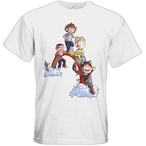 getshirts - Gronkh Official Merchandising - T-Shirt - Dead by Daylight - Regenbogen White