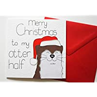 Merry Christmas to my Otter Half Xmas Card