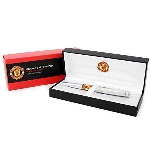 offizielles-manchester-united-fussball-executive-chrom-kugelschreiber-souvenir-geschenkbox