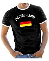 "Coole-Fun-T-Shirts Men's Ringer T-Shirt ""Deutschland"" (""Germany"")"