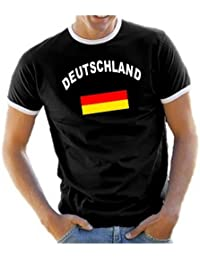 Coole-Fun-T-Shirts Herren T-Shirt Deutschland Ringer