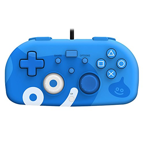 Slime-controller (Hori SONY Licensed Wired Controller Light Small Blue Dragon Quest Slime Edition for PS4)
