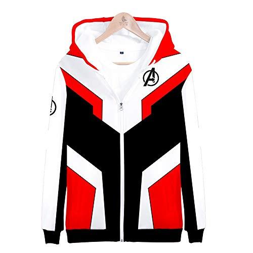 (CSXGUO Kapuzenpullover,3D-Sweatshirt,Hoodie,Rundhalsausschnitt,Jacke,Langarm,in der Fahrt sportliche Freizeitmode Avengers 4 Bequemer Mantel (XXS-4XL) Unisex,Jugend,3XL)