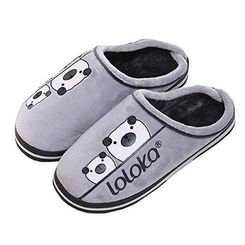Hualq s5309 pantofole invernali accoppiano a casa caldissime pantofole da pavimento in cotone antiscivolo