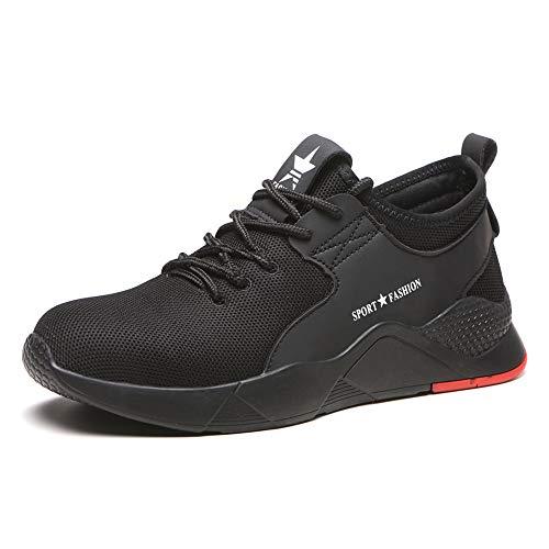 FOGOIN Sicherheitsschuhe Herren Damen Arbeitsschuhe S3 Leicht Stahlkappe Sneaker
