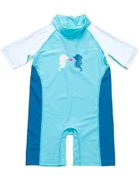 ALove Baby Einteiler Halbarm Schutzkleidung für Säugling Kinder Rash Guard UV-Schutz 50+ Seepferdchen