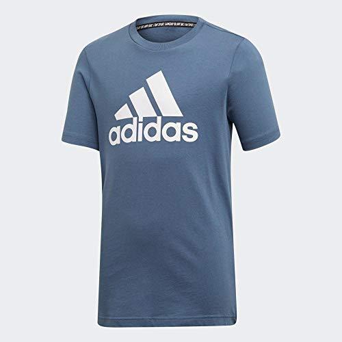 Adidas yb mh bos t, t-shirts bambino, tech ink/white, 15-16a