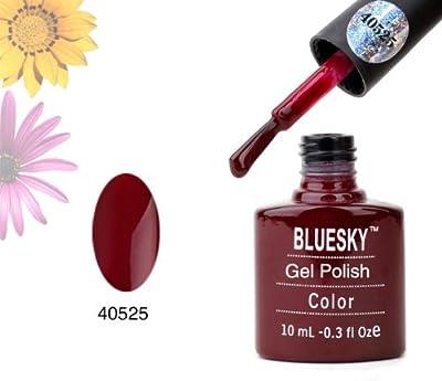 Bluesky UV Gel Soak Off Nail Polish, Red Vixen Number 40525 10 ml