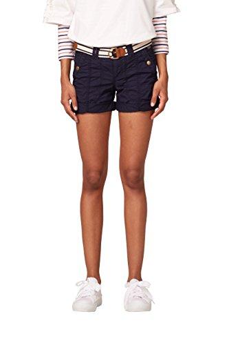 edc by ESPRIT Damen Shorts 038CC1C002, Blau (Navy 400), 34