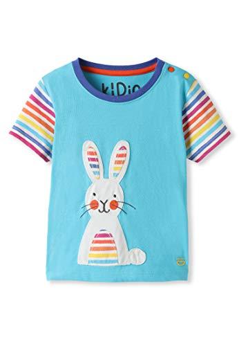 Bio-Baumwolle T-Shirt mit Applikation - Baby Kleinkind Mädchen Junge (0-4 Jahre) (12M (6-12 Monate), Türkis) -