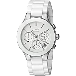DKNY (DNKY5) Women's Quartz Watch with White Dial Analogue Display and White Stainless Steel Bracelet NY4912