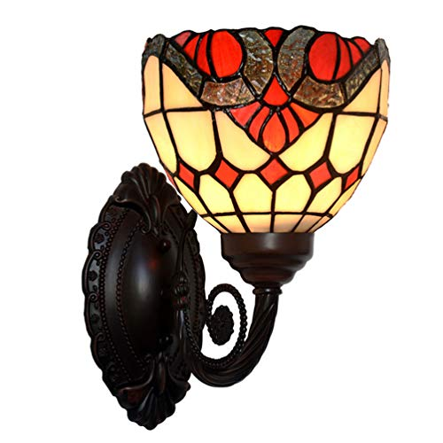 YUE Wall Lamp Tiffany Stil Wandleuchte Barock Einfache Dekorative Glas Wandleuchte Wohnzimmer Gang...