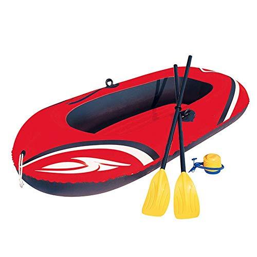 Kanqingqing Kajak Hovercraft Inflatable Assault Boat Zwei Dicker Kajak Schlauchboot Schlauchboot Schlauchboot Fischerboot (Farbe : Rot, Größe : 196x114cm)