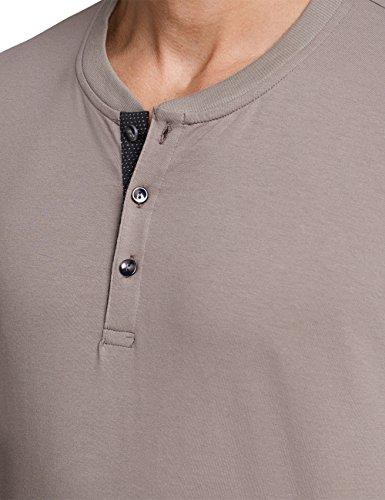 Schiesser Herren Zweiteiliger Schlafanzug Anzug Lang M. Bündchen Braun (Nougat 309)