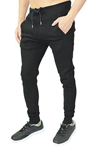Arrested Development - Pantalon de survêtement décontracté pour hommes/garçons coupe skinny - 3 coloris disponibles Ronaldo & Messi Noir - Schwarz Ronaldo