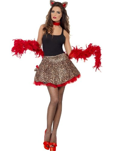 Smiffy's - Kostüm Kätzchen sexy braun rot ()