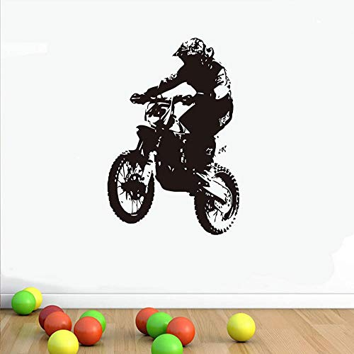 Wandtattoos & Wandbilder Dirt Bike Rider Wandaufkleber Wohnzimmer Selbstklebende Kinder Motocross Motorrad Aufkleber Vinyl Removable Home Decor 58x87 cm - Rehe Wandtattoo Bäume