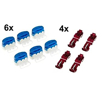 genisys 6 Kabel Verbinder + 4 Anschlussklemmen für Husqvarna Automower (Original von 3M)