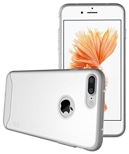 iPhone 7 Plus Deluxe Coque, TUDIA ARCH TPU Matte Complet Mince Bumper Coque pour Apple iPhone 7 Plus (Noir) Givré Clair