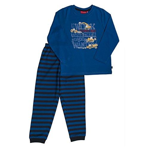 SALT AND PEPPER Jungen Zweiteiliger Schlafanzug Pyjama-Paket Baustelle, Alaska Blue