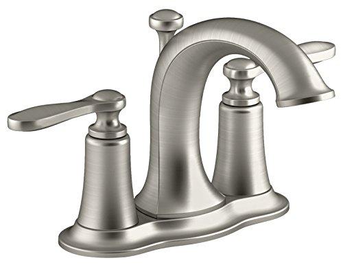 Kohler r45780-4d1-bn 10,2cm gebürstet Nickel Linwood Zwei Griff Centerset Toilette Wasserhahn - Mount Center Drain