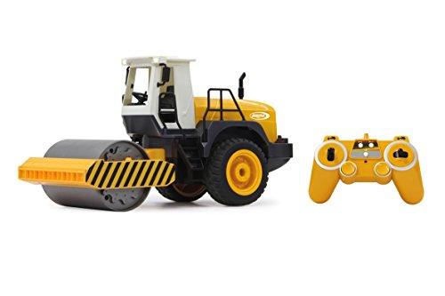 RC Auto kaufen Spielzeug Bild: Jamara 410011 - Straßenwalze 1:20 m. Rüttelfunktion 2,4G - Vibrationsmotor in der Walze, realistischer Motorsound, Hupe, Rückfahrwarnsound Blinker, Licht vorne / hinten, profilierte Gummireifen*