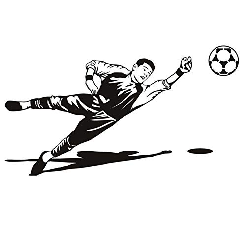 ZOUYUN Wandaufkleber fußball Torwarthandschuhe abnehmbare PVC wandtattoos tapete Zimmer tapete Dekoration kinderzimmer 59 * 33 cm