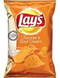 Lay's - Cheddar & Sour Cream Potato Chips, Grosspackung aus USA