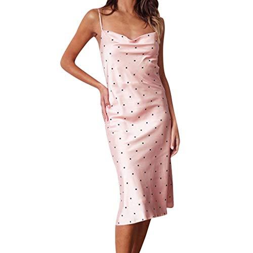 JYJM 2019 Frauen Sexy Sleeveless Kalte Schulter Backless Kleid Nachthemd Partykleid Damen Strickkleid Rollkragen Langarm Stretch Pullikleid Lang Strickpullover Elegant Minikleid für ()