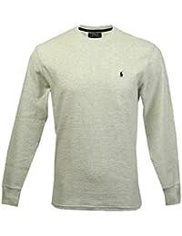 Polo Ralph Lauren Hommes / Garçons à Manches Longues En Tricot Gaufré Thermique T-shirt jour d'usure usure / sommeil Crème L