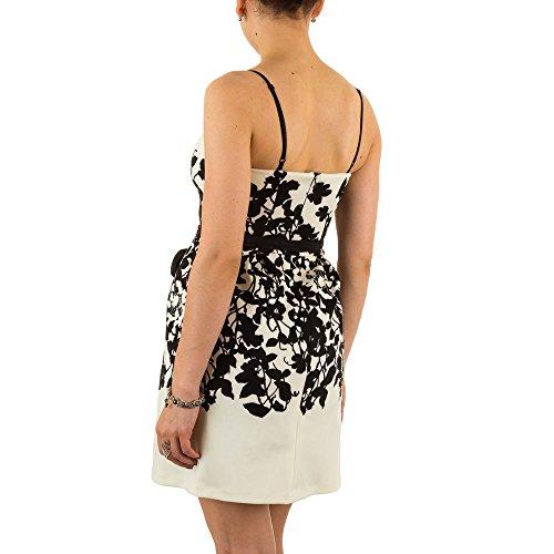 Damen Kleid, RINASCIMENTO PRINT COCKTAIL KLEID, MKL-472B Creme