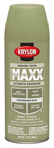 krylon-k09156000-covermaxx-spray-paint-satin-avocado-by-krylon