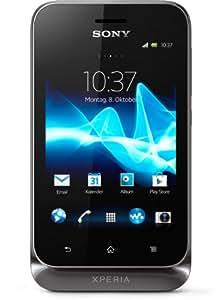 Sony Xperia Tipo Dual Smartphone (8,1 cm (3,2 Zoll) Touchscreen, 3,2 Megapixel Kamera, Dual-SIM, Android 4.0) schwarz