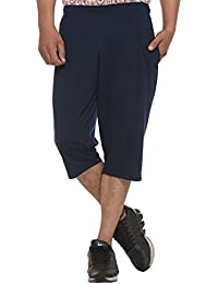 ELK Mens's Blue Cotton Three Fourth Shorts Capri Trouser Clothing Set