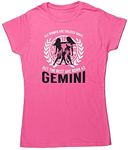 HippoWarehouse All women are created equal but the best are born as Gemini womens fitted short sleeve t-shirt