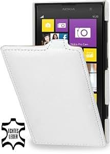 StilGut UltraSlim Genuine Leather Case for Nokia Lumia 1020, White