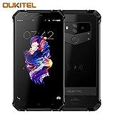 OUKITEL WP1 NFC Outdoor Handy, 5.5 Zoll, Android 8.1 Wireless Charging Smartphone ohne Vertrag, Dual SIM Handy, IP68 Wasserdicht Stoßfest Staubdicht, 4GB+64GB, Mobiltelefon 4G,5000mAh- Schwarz